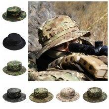 Casquette tactique militaire pour hommes, Camouflage, Boonie, chapeau de protection solaire en plein air, Paintball, Airsoft, entraînement de l'armée, pêche, chasse, randonnée