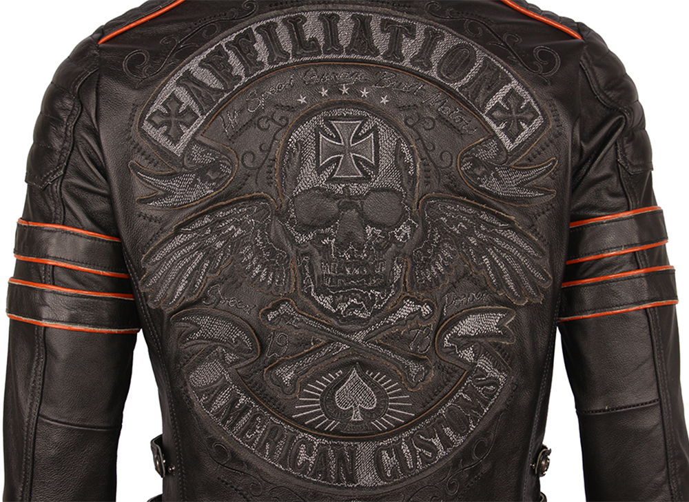 Hdf07915fdd4a412fa85be7d5ddb1e5bbT Black Embroidery Skull Motorcycle Leather Jackets 100% Natural Cowhide Moto Jacket Biker Leather Coat Winter Warm Clothing M219