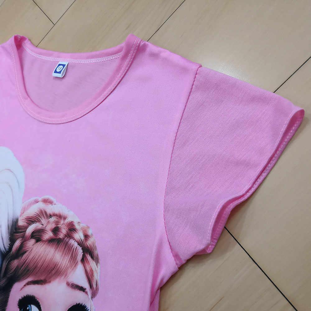 فستان صيفي لفتاة أميرة حفلة عيد الكرتون إلسا فستان الأطفال زي للطفل الملابس 3-10 سنوات