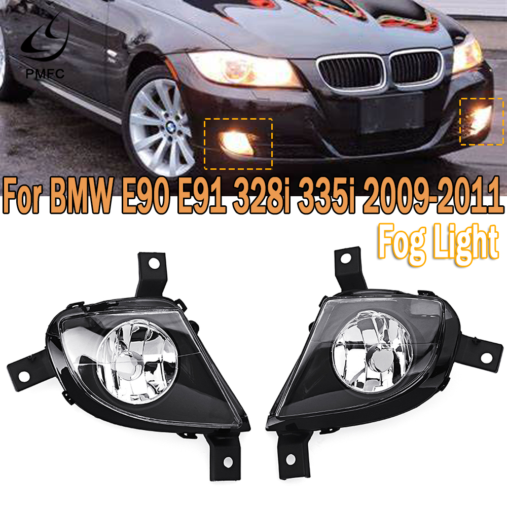 PMFC Fog <font><b>Light</b></font> <font><b>Front</b></font> Bumper Fog Lamp Assembly Driving <font><b>Light</b></font> L/R For <font><b>BMW</b></font> <font><b>E90</b></font> E91 328i 335i 2009 2010 2011 63177199893 63177199894 image