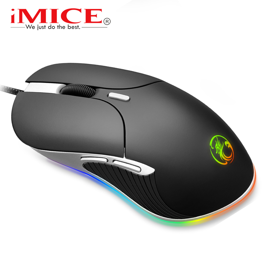 Gaming Mouse Gamer Computer Mouse Wired Ergonomic Mause With Cable 6400DPI Led Game Mice RGB USB Optical PC Mouse With Backlight