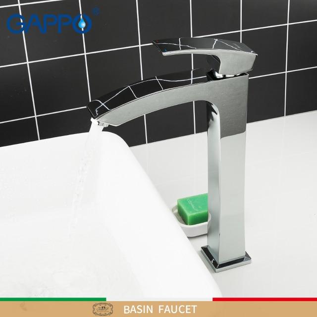GAPPO גבוה אגן ברזי פליז אמבטיה כיור ברז מים מיקסר סיפון רכוב אמבטיה ברז מפל מגופים ברזי torneira לעשות anheiro