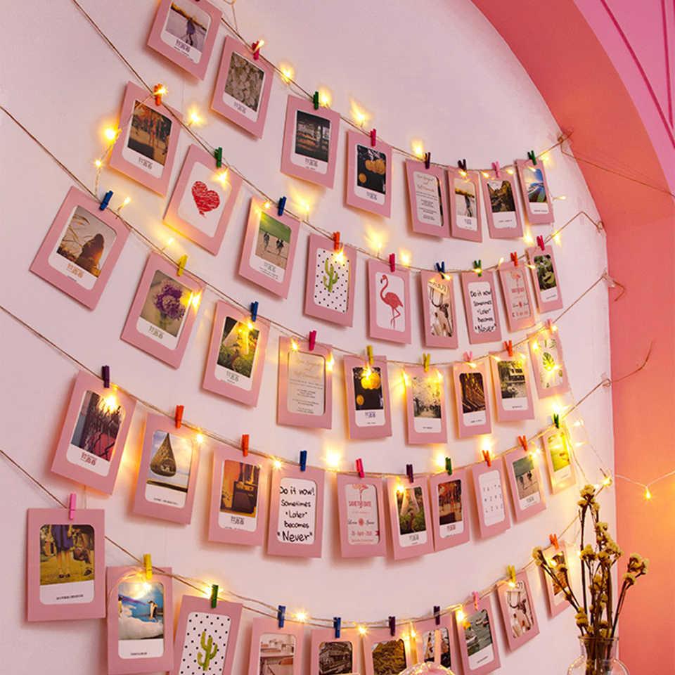 10 متر صور كليب usb led سلسلة أضواء غرفة نوم صور الجدار الديكور الجنية جارلاند أضواء عيد الميلاد الزفاف عيد الميلاد ديكور حفلات