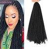 18 inç sahte Locs tığ saç Ombre sahte kilitleri örgü tığ saç yumuşak sentetik örgü saç uzantıları Afro kadınlar Dreadlocks