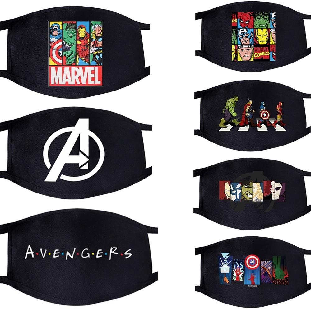 The Avengers Superhero Super Hero Pattern Face Mask Mouth 1pcs Dustproof Unisex Anti Dust Cycling Respirator  Masks