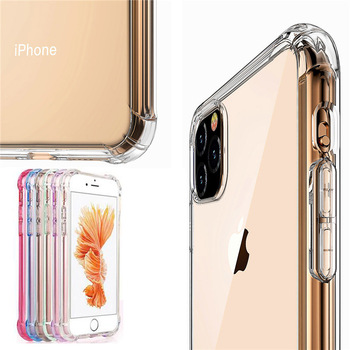 Transparent Case For iphone 12 PRO 11 PRO MAX 7 Plus 8 6 6S Shockproof Soft Silicone TPU Clear Cover Case for iphone XS MAX X XR image