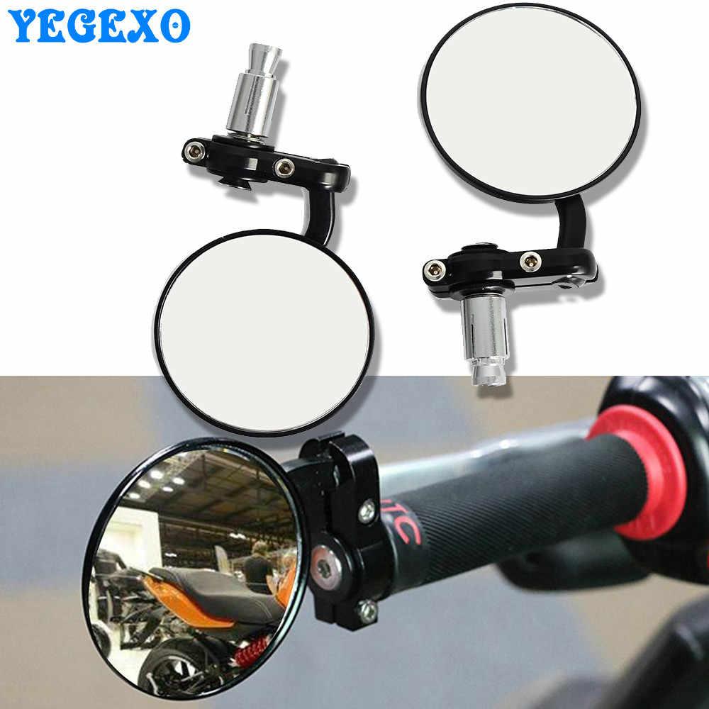 รถจักรยานยนต์ Handle Bar End กระจกมองข้างสำหรับ Aprilia RSV4 TUONO V4 SR 50 pegaso 650 sxv Shiver 750 rs50 RS 50 RSV