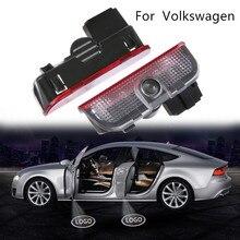 Car LED Door CourtesyDoor light Light Projector For  Volkswagen Passat B6 B7 CC Golf 5 6 7 MK5 MK6 MK7 Jetta Touran Tiguan