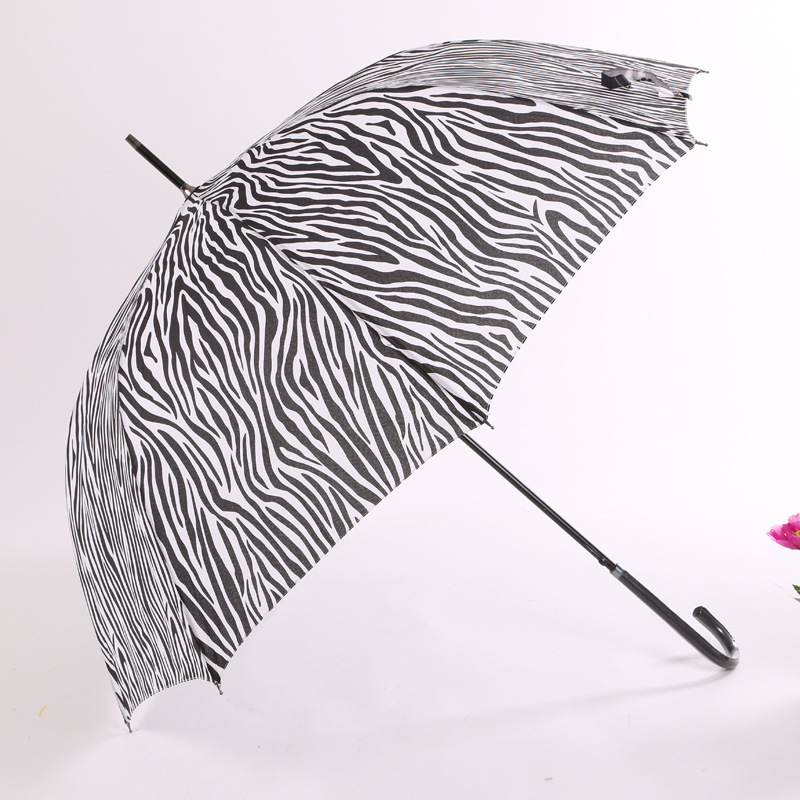 Manufacturers Direct Selling High Quality 60x8k Umbrella Zebra-stripe Straight Pole Hipster All-Weather Umbrella Automatic Adult