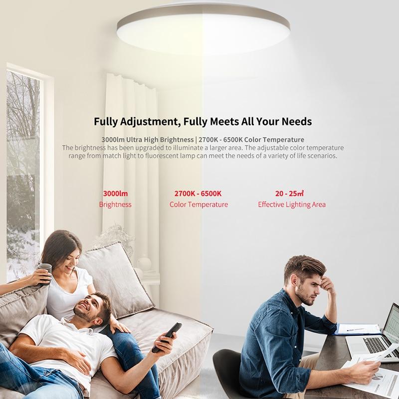 Nieuwe Yeelight 50W Smart Led Plafond Verlichting Kleurrijke Omgevingslicht Homekit Mijia App Controle 220V Voor Woonkamer YLXD50YL 3000lm - 2