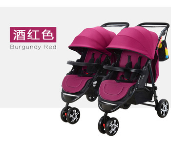 Detechable Portable Twins Baby Carriage Tricycle Stroller Pram Folding Two Baby Double Stroller for Twins Buggy Pushchair 0~3 Y twins baby stroller sitting and lying portable baby carriage folding second child artifact double seat twin stroller for newborn
