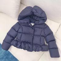 High Quality 2019 New Winter Duck Down Dark Blue Pink Coat Jacket For Boys Girls Coat outwear 90 150CMwwwwwwwwwwwwwwwwwwwwww