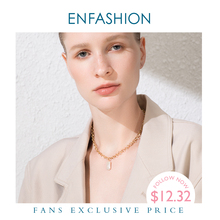 ENFASHION Boho Conch Chain Necklace Women Gold Color Statement Natural Mother Of Pearl Necklaces Stainless Steel Jewelry P193025