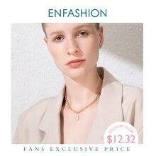 ENFASHION colliers de chaîne de perles pour femmes, bijoux en acier inoxydable P193025