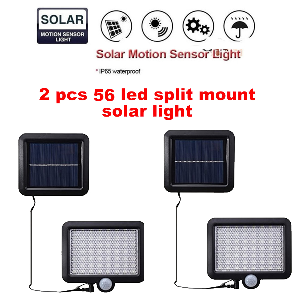 2/4pcs 100/56/30 LEDs Solar Light PIR Motion Sensor Solar Power Night Lamp LED Garden Light Outdoor Security Solar Wall Lamp Wat