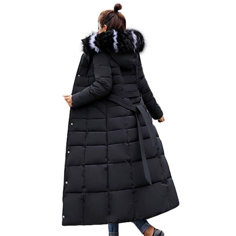 Long Woman   Parkas   Fashion Winter Women Thick   Parka   Female Slim Fur Winter Warm Cotton Coat For Women Chaqueta Mujer Fur Collar