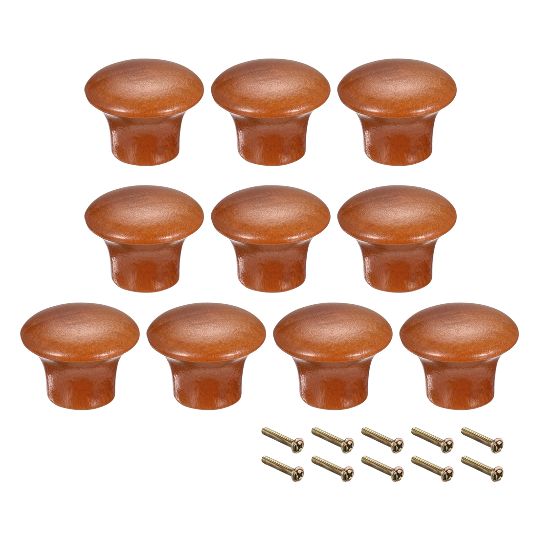 uxcell Round Pull Knob Handle 23mm Dia Cabinet Furniture Bedroom Kitchen Drawer 10pcs|Cabinet Knobs| |  - title=
