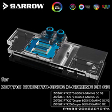 BARROW Water Block use for ZOTAC RTX2070 8GD6 X GAMING OC / 2070 AMP ZT-T20700D-10P GPU Support Backplate D-RGB 3PIN