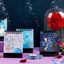Desk-Calendar Daily-Schedule-Planner Mini Bright Galaxy-Series The-Little-Prince
