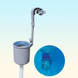 Wall-Mount Skimmer Pool Swimming Automatic Clean with Pumps for Daily ABS Compatible