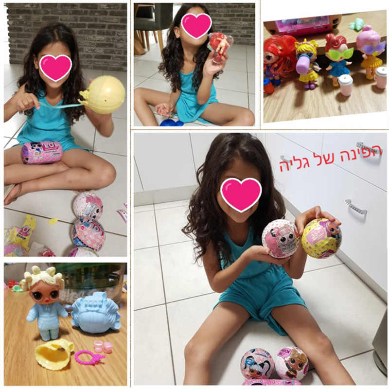 Original lol surpirse bonecas 5th geração cabelo metas diy brinquedo da menina presente de natal