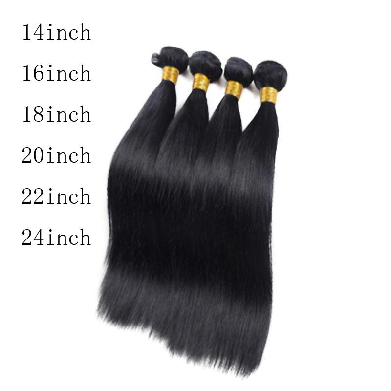 1pc Brazilian Virgin Silky Straight Human Hair Natural Black Wig Hair Extension For Women Wavy Cosplay Hair Wig
