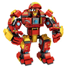 Marvel Avengers 4 Super Heroes Movies Iron Man Hulkbuster Mech Smash-up Set Building Blocks Toys For Children Gifts