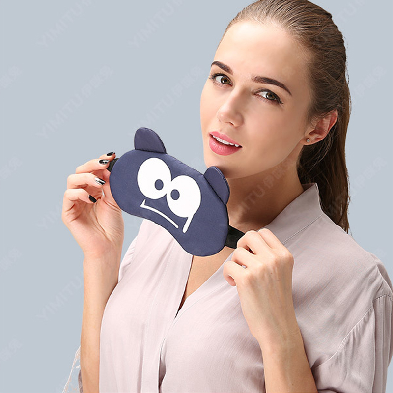 Cotton Cartoon Facial Expression Sleep Eye Mask Cute Funny Lovely Eye Cover Sleeping Mask Travel Rest Eye Band Patch Blindfolds