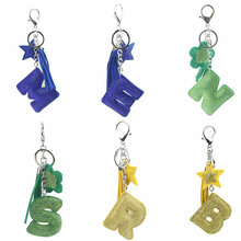 Creative Korean Velvet Letter Popular Key Chain English Womens Car Hanging