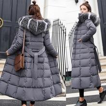 Winter Women Down Jacket Long Hooded 2019 Fashion Snow Clothing Warm Cotton-padd