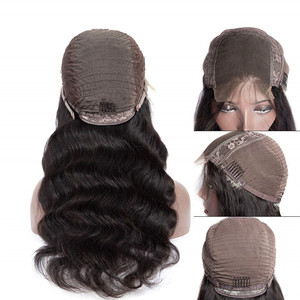 Image 2 - Liddy Human Hair Wigs 4x4 Lace Closure Wig For Black Women Body Wave Wigs Non remy Natural Color 150% Density Wigs