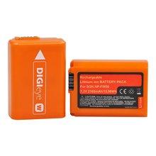 Pcs 2160mAh NP-FW50 2 NPFW50 Bateria Recarregável para Sony A6000 A6400 A6500 A6300 A7 A7II A7RII A7SII A7S A7S2 A7R A7R2 A55 A500