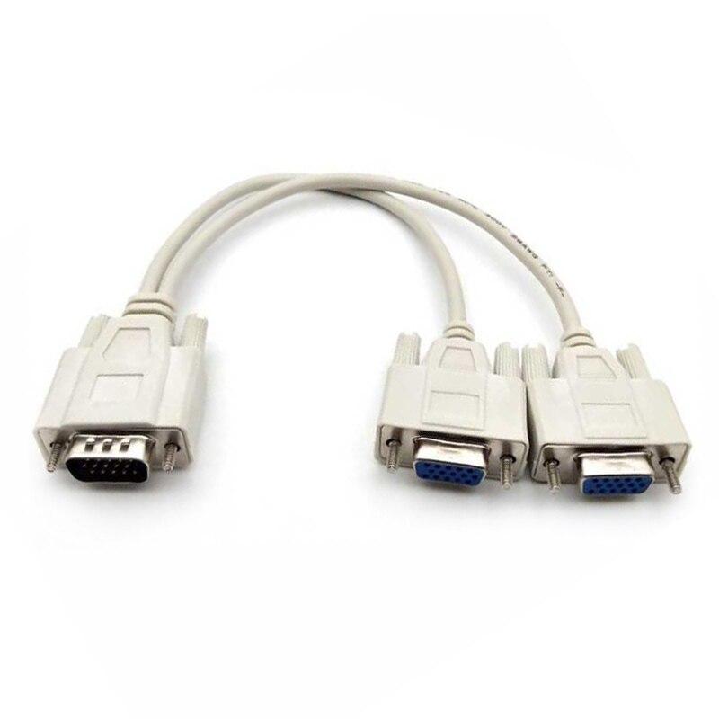 Кабель-Дубликатор VGA 1 HDB 15 штекер на 2 VGA HDB15 гнездовой разветвитель двойной монитор и распродажа