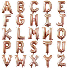 BRIDAY 1pcs Alphabet Letters Balloons Rose Gold Foil Balloons Happy Birthday Party Wedding@1(China)