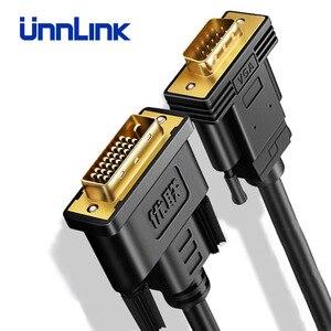 Image 2 - Unnlink активный адаптер DVI VGA FHD 1080P @ 60 DVI D 24 + 1 К VGA Цифровой адаптер конвертер кабель для ноутбука хоста графической карты