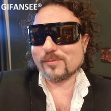 GIFANSEE One piece Shape Men Sunglasses Polarized MIRROR len