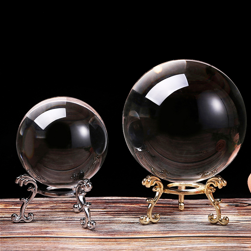 60/100MM фотография хрустальный шар орнамент фэншуй Глобус Гадания и предсказания кварца Волшебная Стекло шар для домашнего декора Сфера bola de ...