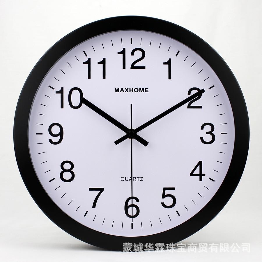 Horloge murale en métal Sangtai balayage muet mouvement classique maison bureau décoration mode Simple salon horloge - 2