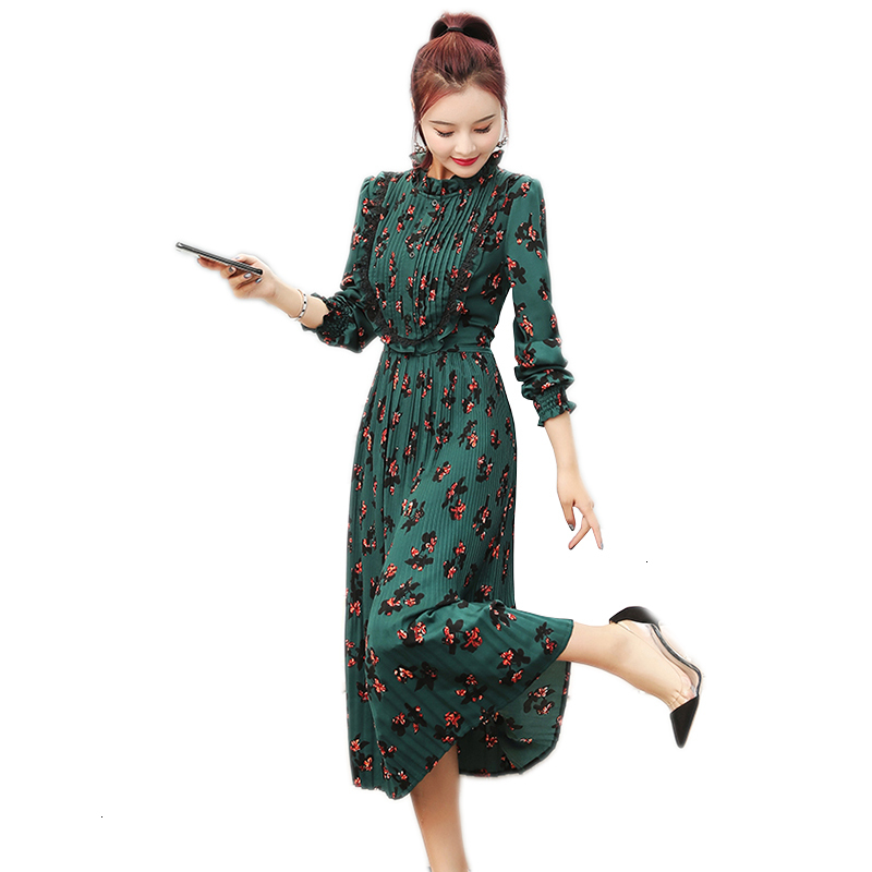 Reclaim fake dress middle age women Spring New fashion print dress Elegant Mid -calf M -3XL dresses LU596 фото