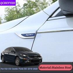 Car Styling dla Kia K3 Cerato Forte BD 2019 2020 po stronie samochodu liść talerz dekoracji cekiny liści pokładzie korzystając z łączy z boku etykiety naklejki akcesoria|Naklejki samochodowe|   -