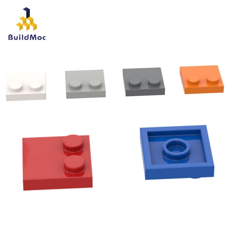 BuildMOC, совместимые сборы, частицы 33909 2x2, половинчатая кромка-2, базовая пластина, детали для сборки, образовательная Подарочная игрушка с лого...