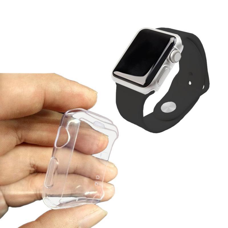 """38 מגן TPU Case עבור Apple Watch2 / 3/4 Anti-Drop ארה""""ב להגנת מעטפת מלאה Cover Case 38/40/42 / 44mm מגן אופציונלי (4)"""