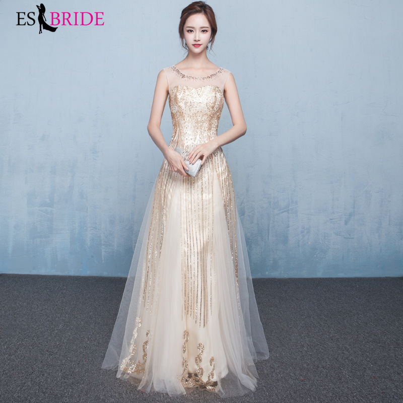Lace Evening Dresses Long 2019  O-neck Wedding Guest Gown Sleeveless Backless Elegant Abito Da Cerimonia