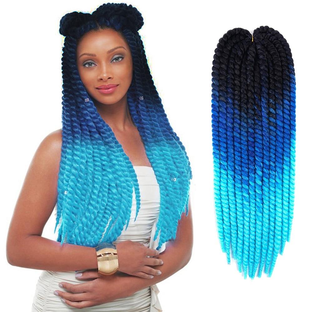 Havana Mambo Twist Crochet Braid Hair Synthetic Ombre Braiding Hair Crochet Twist Braid 12strands/pack 22'' 120g