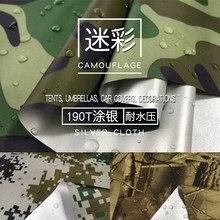 Taille 1*1.5 mètre largeur 190T Poly taffetas Camouflage Oxford tissu imprimé argent imperméable 1500mm tissu tentes extérieures