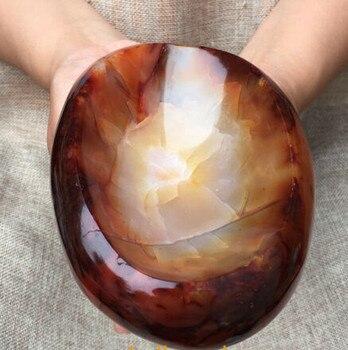 2.38LB Natural carnelian Quartz Crystal Ashtray Mineral specimen healing