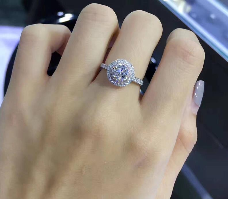 Silver Color Engagement Ring Zirconia Jewelry Rings Fashion jewelry rose gold and Gold women Crystal ring 14