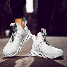 Joker running shoes with men's flying woven breathable sports shoes