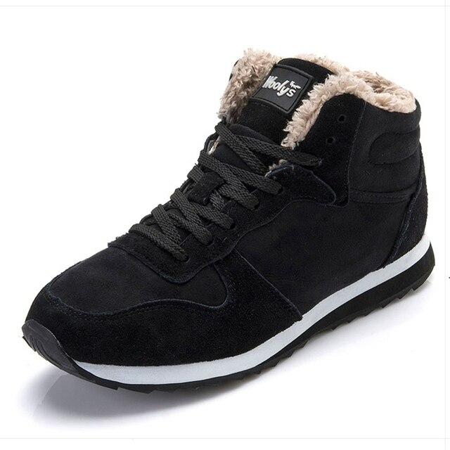 Men Boots Winter Shoes Mans Footwear Warm Fur Snow Boots Ankle Botas Hombre Winter Boots For Men Plush Winter Sneakers Plus Size 1