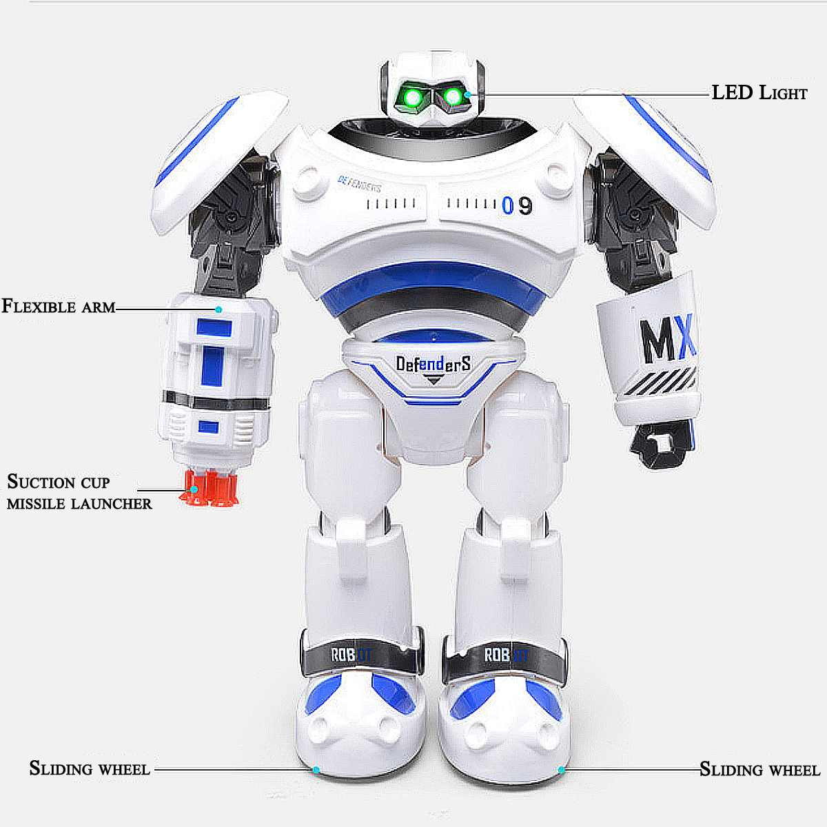 AD Polices Files Programmable Combat Robot with Remote Control for Kids